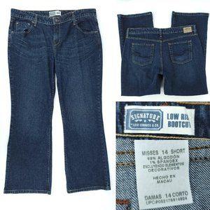 Levis Low Rise Bootcut Blue Jeans 14 Short 37x28